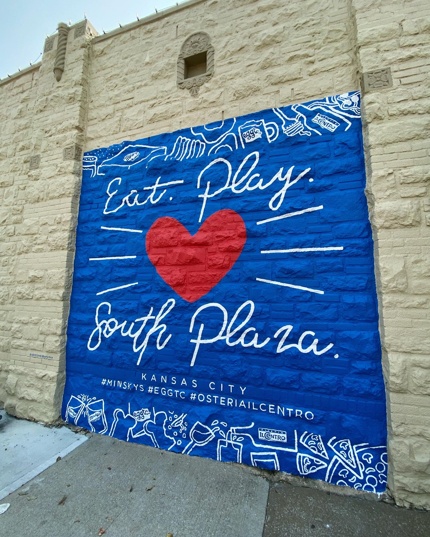 Eat. Play. (Love) South Plaza – New Mural from Local Artist!