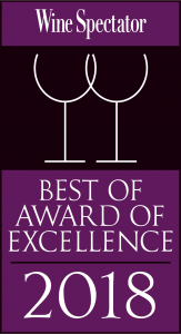 WineSpectator Best of Award of Excellence 2018