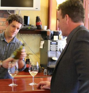 Thomas Woodley of Woodward Canyon Winery pours a special selection