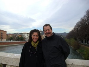 Mark and Donna Friedell in Verona